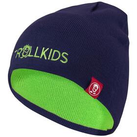 TROLLKIDS Troll Czapka Dzieci, navy/bright green
